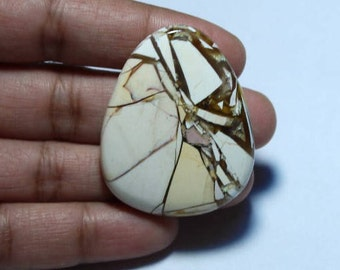 Natural Brecciated Mookaite Jasper Cabochon , loose gemstone , Gemstone Exclusively For Pendent [39 x 31] 54 Cts  #3932