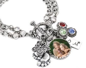 Mom's Personalized Photo, Childs Photo Jewelry, Grandmothers Personalized Photo, Kids Photo jewelry