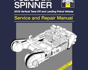 Spinner Patrol Car Repair and Service  Men's Unisex T-Shirt - Blade Runner Film Manual Parody Clothing