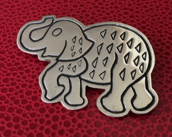 Mexico Sterling Silver Elephant Stamped Mex 925 Brooch