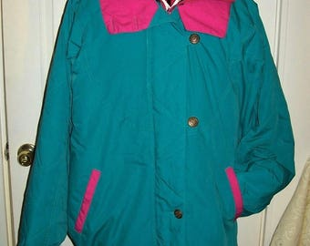 Vintage Ladies Green Winter Coat Parka by Clipper Mist XL Only 14 USD