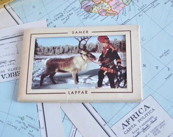 Block of souvenir postcards of the Samer in Lapland of the years ' 50