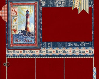 By The Sea - Premade Scrapbook Page