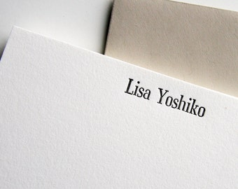 Personalized Stationery - Custom Letterpress - 1color