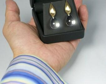 18K Solid Gold Crystal Quartz Earrings, 14K Solid Gold Crystal Quartz Earrings, 18K Earrings 14k, Bridal Earrings, Solid Gold Post Earrings