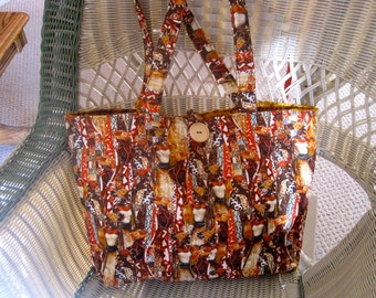african inspired tote