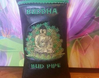 Custom Buddha pot pipe pouch