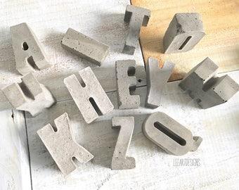Concrete Letters, Industrial Decor, Beach Decor, Urban Decor, Cement Letters, Modern Decor, Letters, Industrial Letters, Dorm Decor