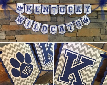 University of Kentucky Inspired Party Banner - Perfect for tailgating, hosting a party, or decorating your dorm or room