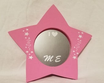 Pink Star Etched Mirror