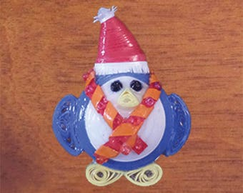 Christmas Penguin Clothes Pin
