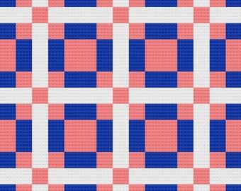 Jo Ann Quilt Afghan C2C Crochet Pattern, Written Row by Row Counts, C2C Graphs, Corner to Corner Crochet Pattern, Graphgan, C2C Graph