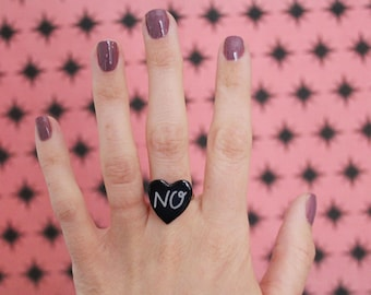 No Heart Adjustable Ring