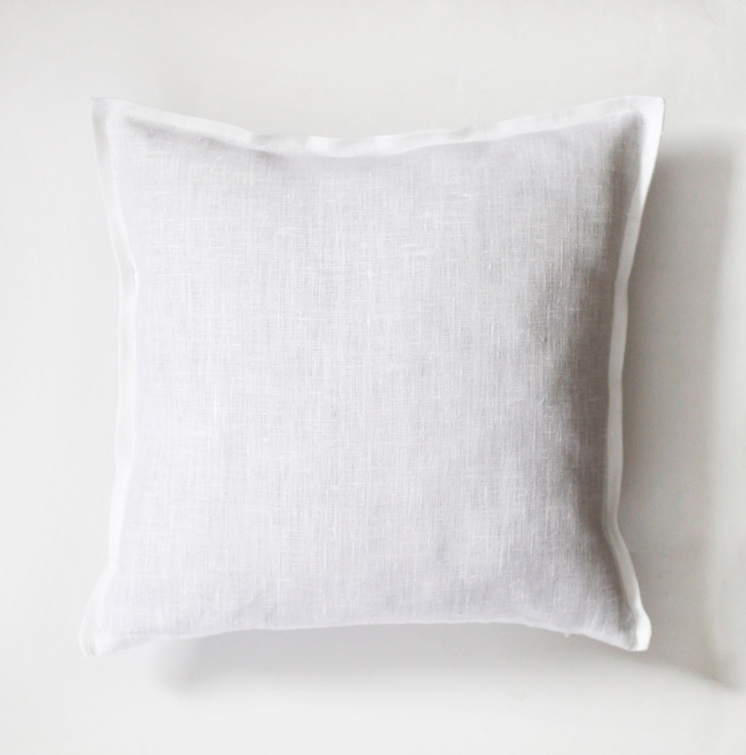 White pillow white pillow cover white natural fabric