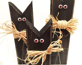 Wooden Black Cat Fall Decorations, Make Your Family