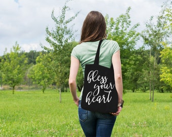 Bless Your Heart // Southern Sayings // Casual Cotton Canvas Tote