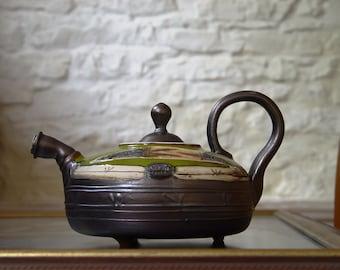 Green Teapot, Wheel Thrown Pottery Tea Pot. Handmade Teapot, Unique Teapots,  Clay Teapot, Ceramic Art, Ceramic Teapots, Danko Pottery
