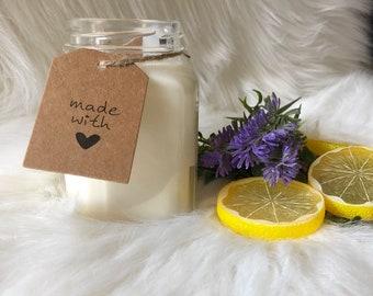 Lemon + Lavender {Soy Candle}