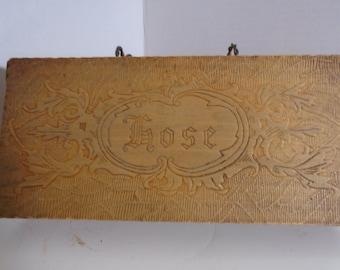 Vintage Wooden Hose Box
