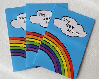 The Gay Agenda A5 Notebook with Plain Blank Pages