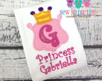 Baby girl Princess Shirt - Princess Shirt - Princess Outfit - 1st birthday girl outfit pink - Princess Baby Girl Clothes - Personalized
