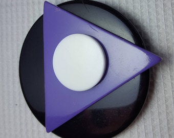 Vintage 1980s Large Geometric Brooch Pin