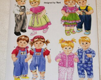 """New Simplicity 16"""" doll Clothes Pattern 4268"""