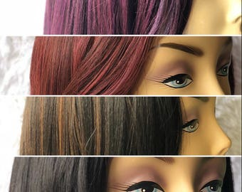 Front Lace Hair Blend Wigs