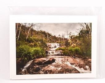 Waterfall, Rainforest Photograph, Gift for Him, Rainforest, Forest, Nature Photograph, Blank Gift Card, Australian Landscape, Gift Card
