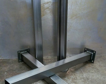 Metal Tube Table Legs (Set of 4) 14 GA