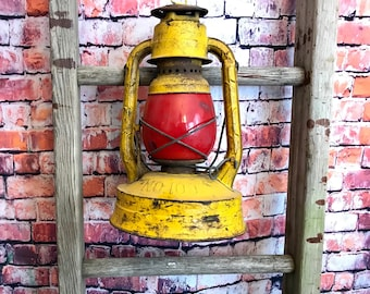 Dietz Lantern| Yellow Lantern| Antique Lantern| Rustic Decor| Farmhouse Decor| Fixer Upper| Man Cave Decor|Dietz Oil Lantern|Home and Living