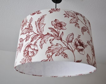 """Lampshade """"Flowers in bordeaux"""""""