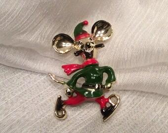 Vintage Mouse on skates Beatrix Jewelry 1960s