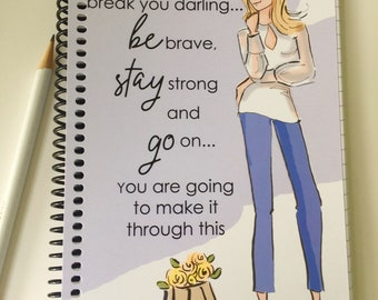 Gratitude Journal -  Don't Let it Break You-    Summer notebooks  -Quotes - Notebooks - Gifts for Women Teachers -