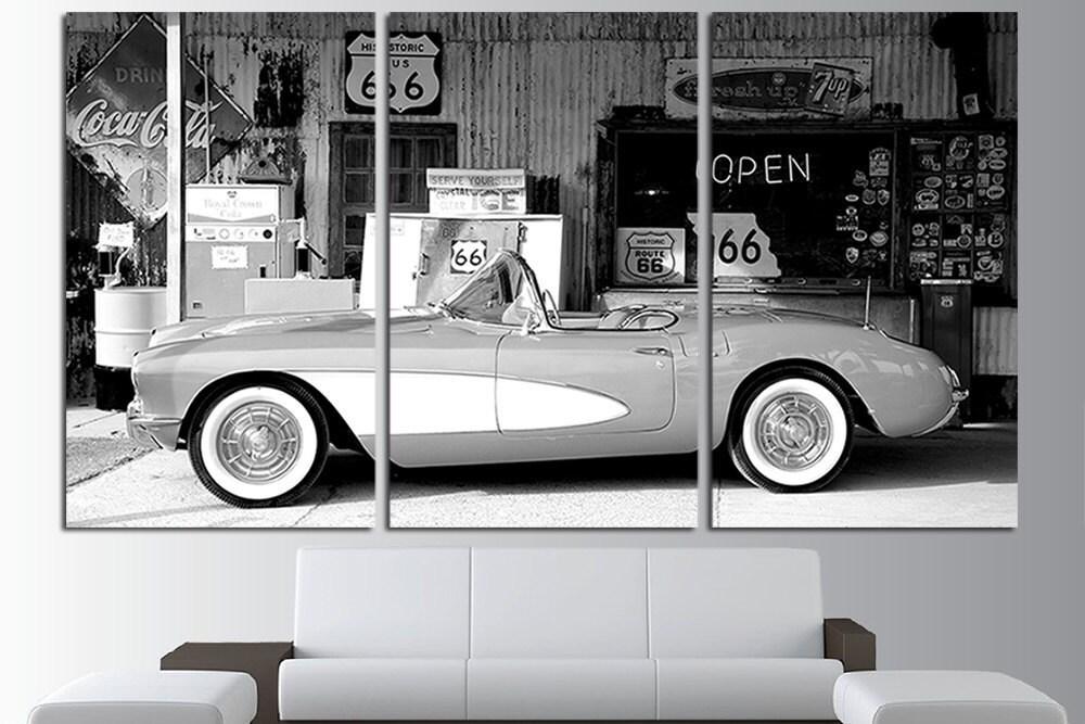 Corvette viejo coches Corvette móvil cartel Corbeta lona