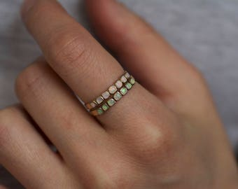 White Opal Band Ring. Opal Ring. Gold Opal Ring. Opal Ring Rose Gold. Opal Wedding Band. Opal Band Ring. White Opal Ring.