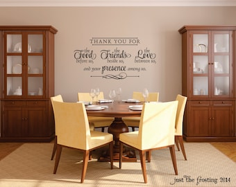 Dining Room Decals Etsy - Wall decals dining room