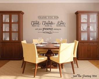 New Wall Decal   Thank You Wall Decal   Bless The Food Before Us Viny;