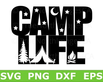 Camper SVG / Happy Camper SVG / Camping SVG / Camping Vector / Camping Clip art / Camping Life / svg Files for Cricut / Silhouette
