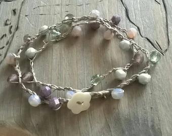 Bracelet beads crochet
