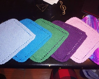 Hand-knitted Washcloths/Trivets