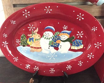 Festive Frosty Serving Platter by Studio Nova