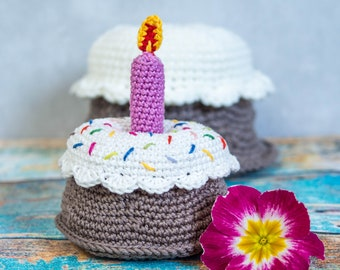 EN/GER Pattern - Adorable Birthday cake - Bommelie, amigurumi, children, toys, montessori, supermarket, kitchen (english/german)