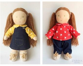 """Deposit for a CUSTOM 14"""" (36 cm) Waldorf Doll Baby Waldorf doll 14 inch Waldorf baby doll Waldorf doll clothes Waldorf dolls Steiner doll"""