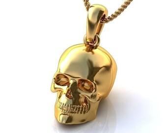 Gold Skull Pendant