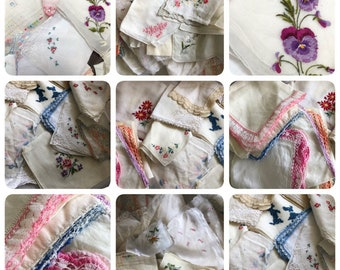 100 Beautiful  Vintage Hankies!