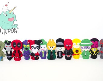 Super Villains Finger Puppets