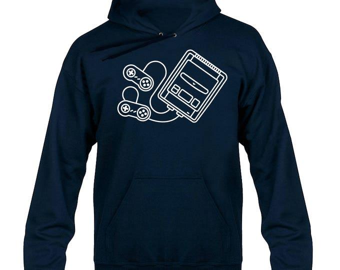 SNES Console Tribute Hoody Hoodie Hooded Sweater
