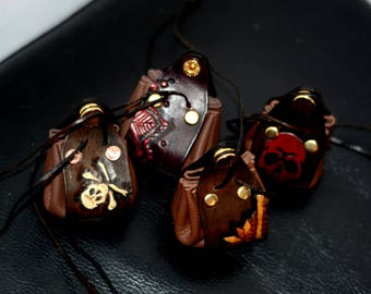 Handtooled Leather Money Pouches