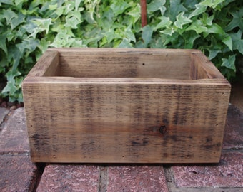 Rustic Wood Boxes - Rustic Reclaimed Wood Centerpiece - Wooden Box - Wedding Centerpiece - Garden Box - Rustic Decor - Wood Storage Boxes